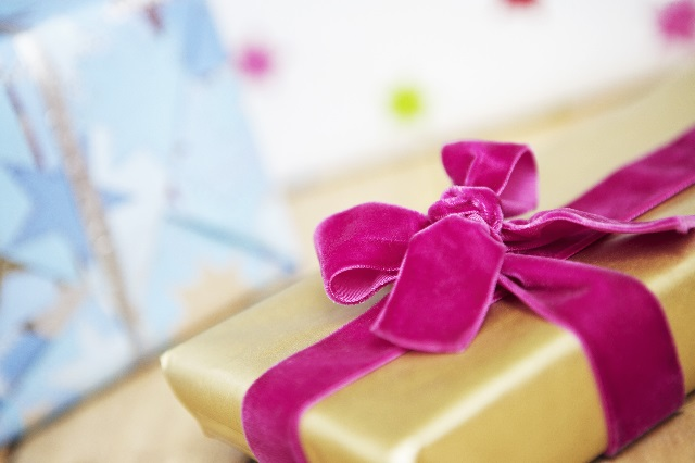 Wrapped Present with Velvet Bow