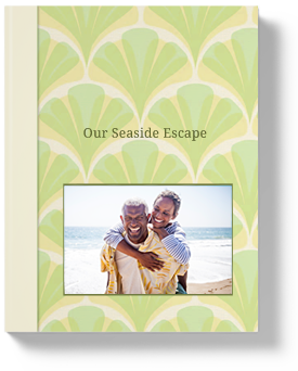 Vacation Blog Book Seashell Cover